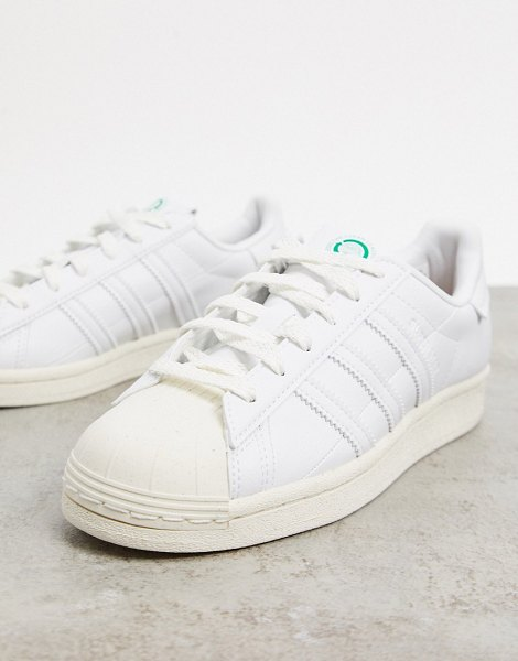 adidas Originals sustainable superstar sneakers in white in white