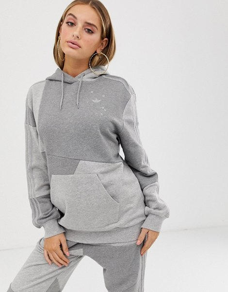 adidas Originals x danielle cathari deconstructed hoodie in gray in gray