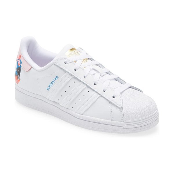 Adidas superstar x egle sneaker in ftwr white/ clear pink