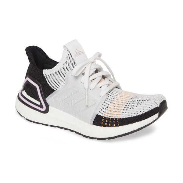 Adidas ultraboost 19 running shoe in crystal white/ core black