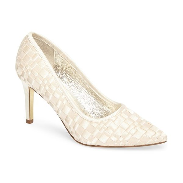 ADRIANNA PAPELL hasting pointy toe pump - A trendy woven upper distinguishes a contemporary pump in a...