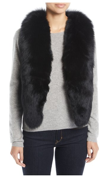 Adrienne Landau Short Fur Vest w/ Cutout Back in black - EXCLUSIVELY AT NEIMAN MARCUS Adrienne Landau vest in...