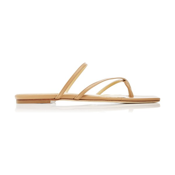 aeyde marina leather sandals in brown