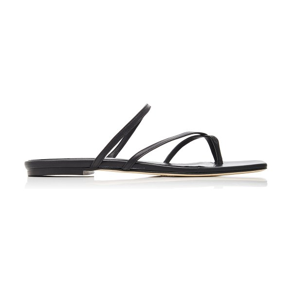 aeyde marina leather sandals in black
