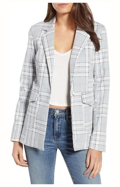AFRM lila plaid blazer in soft grey plaid - Keep your look polished and pulled together whether...