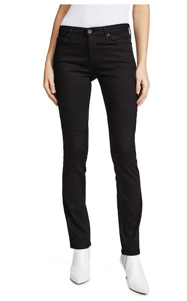 AG Adriano Goldschmied the harper essential straight leg jeans in overdyed black