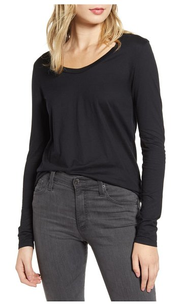 AG Adriano Goldschmied cambria long sleeve tee in true black