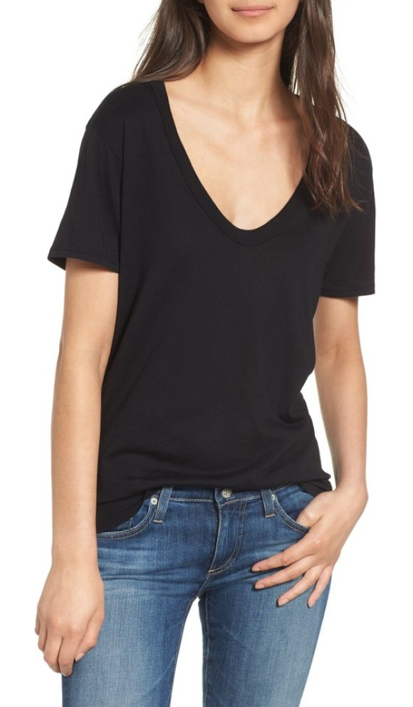 AG Adriano Goldschmied henson tee in black - Keep your everyday style classic with this relaxed,...