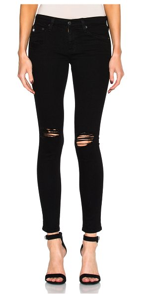 AG Adriano Goldschmied Leggings Ankle in black - 98% cotton 2% elastan.  Made in USA.  Machine wash. ...