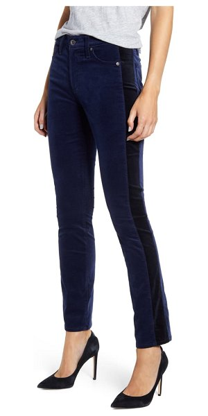 AG Adriano Goldschmied mari tuxedo stripe pants in deep trenches