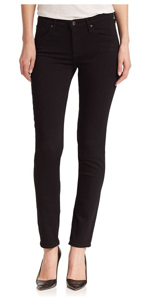 AG Jeans prima mid-rise cigarette jeans in saturated black