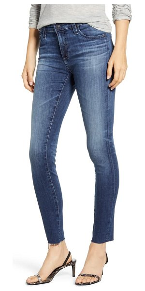 AG Adriano Goldschmied raw hem ankle legging jeans in 12 years idiosyncratic