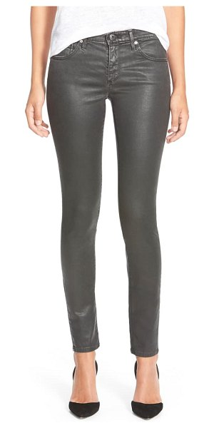 AG Adriano Goldschmied the legging ankle jeans in vtg leatherete black