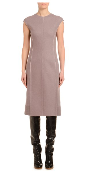 Agnona Cashmere-Jersey Cap-Sleeve Pencil Dress in pink