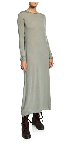 Agnona Cashmere Long-Sleeve Maxi Dress in sage