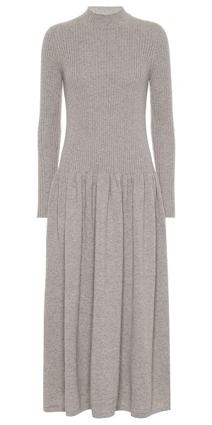 Agnona cashmere midi dress in beige