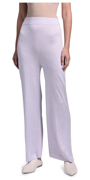 Agnona Full-Leg Pants in lavender