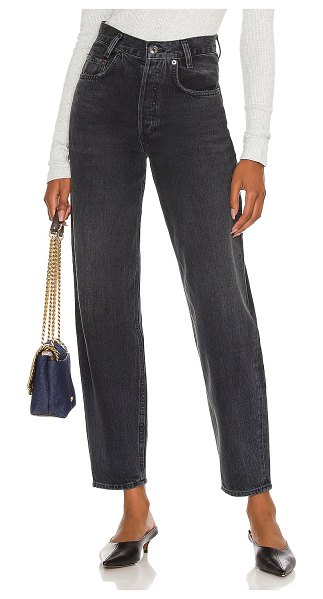 AGOLDE high rise tapered baggy jean in shambles