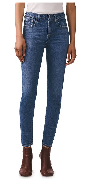 AGOLDE Toni Mid-Rise Slim Straight Jeans in obscure