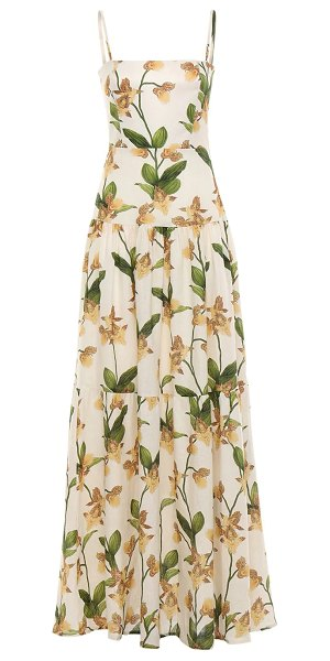 Agua by Agua Bendita Lima embroidered maxi dress in ivory,multi