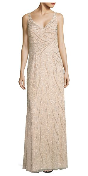 Nice Aidan Mattox Sleeveless Beaded Gown Crest - Images for wedding ...