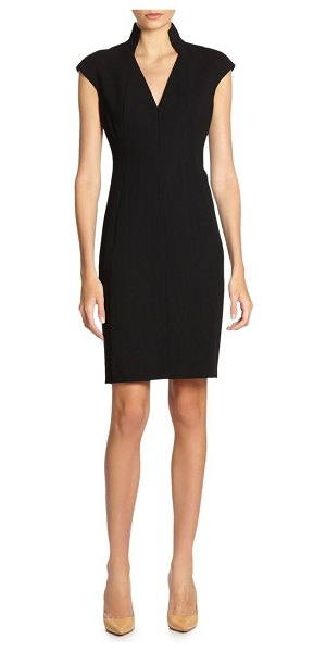 Akris architectural collection double face dress in black