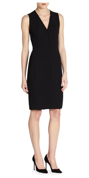Akris architecture collection double-face wool dress in black