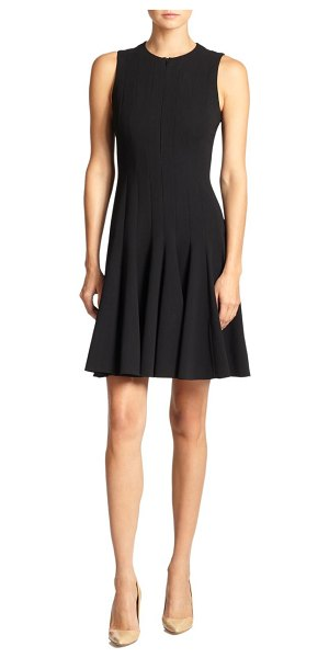 Akris double-face flare dress in black
