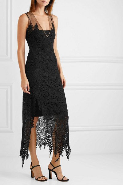 Akris embroidered tulle gown in black