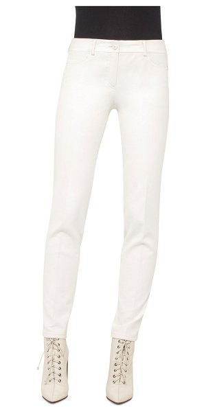 Akris Magda Slim-Leg Ankle Pants in moonstone