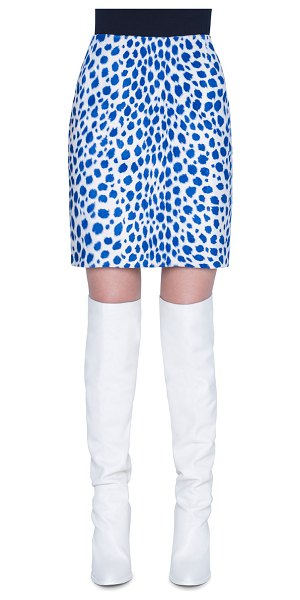 Akris punto Animal Dotted Mini Skirt in multi