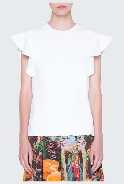 Akris punto Flutter Cap-Sleeve Jersey Top in prickly pear
