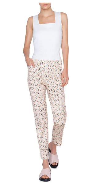 Akris punto Franca Cotton Stretch Memphis Bell Air Pants in multi pattern