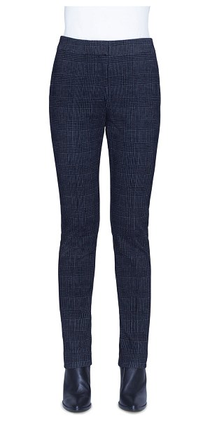 Akris punto Mara Glen Check Velvet Pants in gray