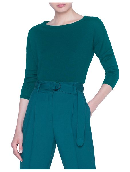 Akris punto Merino-Knit Boxy Sweater in green