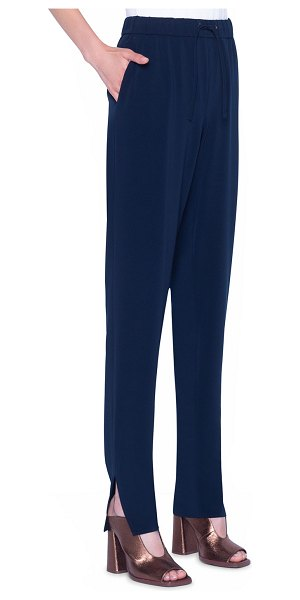Akris punto Mike Crepe Pull-On Pants in blue