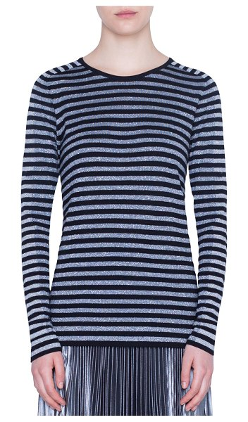Akris punto Shimmer Striped Sweater in multi