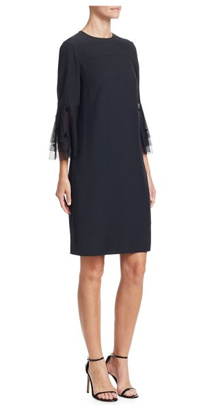 Akris punto Tiered Tulle A-Line Dress in nero