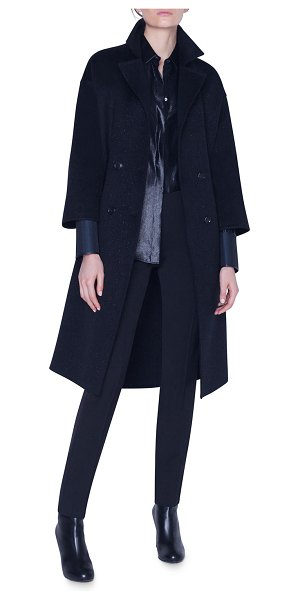 Akris Sparkle Wool-Cashmere Coat in black