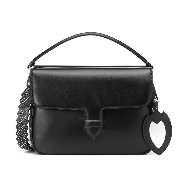 Alaïa bettina large leather shoulder bag in black