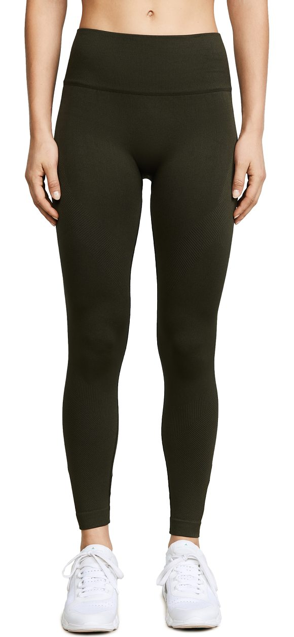 ALALA niche leggings in olive - ALALA leggings in a seamless design with mixed-texture...
