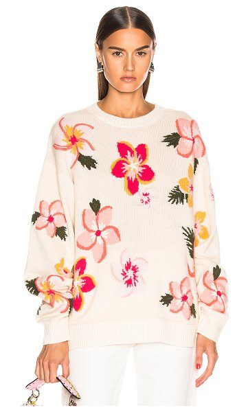 ALANUI floral sweater in white