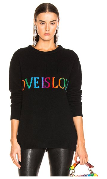 ALBERTA FERRETTI Love is Love Sweater in black - 70% wool 30% cashmere.  Made in Italy.  Dry clean only. ...