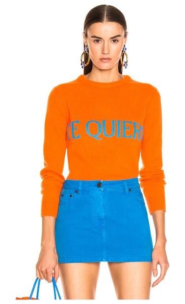 ALBERTA FERRETTI Te Quiera Sweater in orange - 70% wool 30% cashmere.  Made in Italy.  Dry clean only. ...