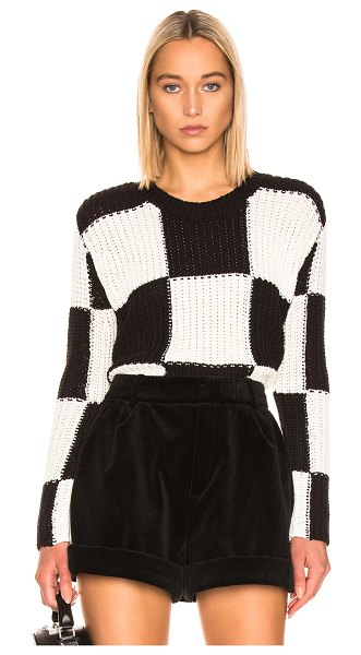 A.L.C. checkerboard sweater in black & white