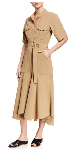 A.L.C. Emma Belted Midi Shirt Dress in khaki