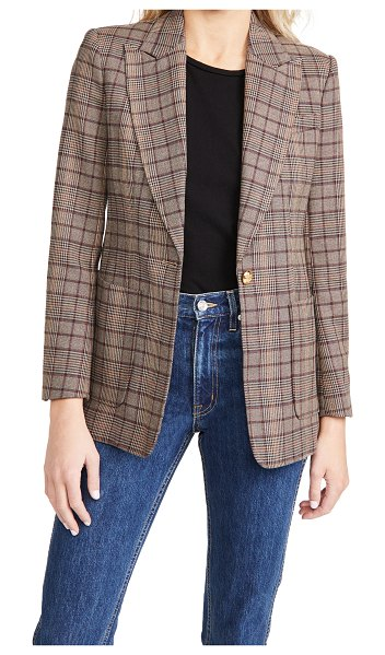 A.L.C. hicks blazer in brown/bordeaux/blue