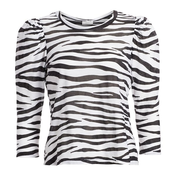 A.L.C. karlie zebra puff-sleeve top in white black