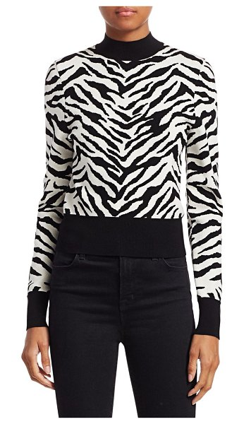 A.L.C. Lola Zebra Sweater in white black