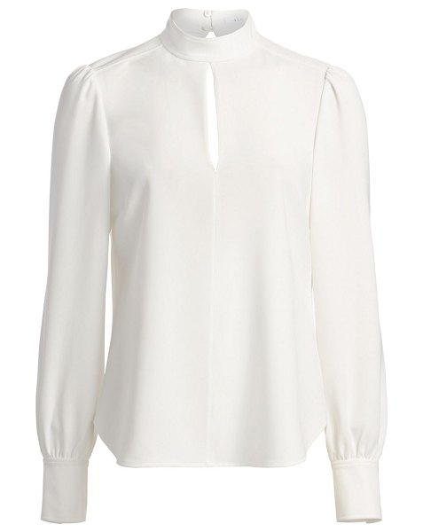 A.L.C. marina long-sleeve crepe blouse in white